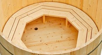 Vasca Da Bagno Esterna Usata : Tinozza di legno a botte da giardino mistel piscine italia
