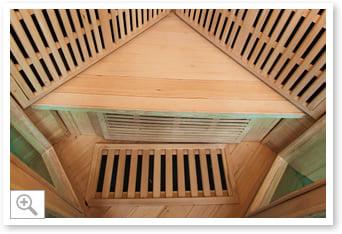 Sauna inrarossi Aurora - Interni seduta