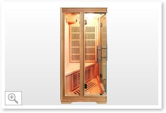 Sauna inrarossi Aurora - vista laterale