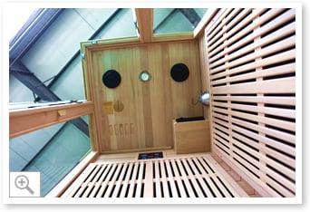 Sauna inrarossi Aurora - Interni parte superiore