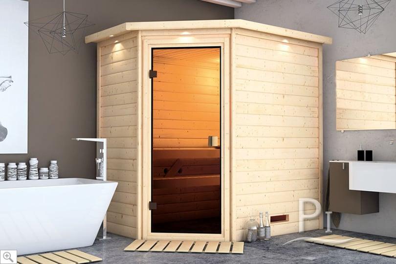 Sauna infrarossi Camelia in ambientazione interna