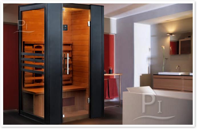 Sauna infrarossi Erika - Foto cabina ambientazione in interni