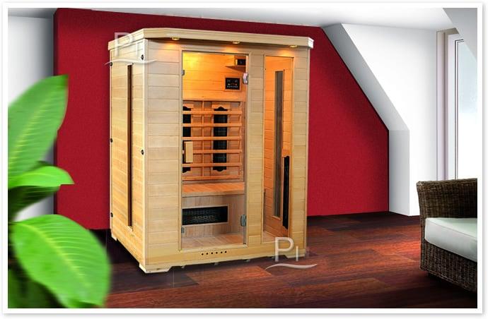 Sauna infrarossi Giorgia - Foto cabina ambientazione in interni