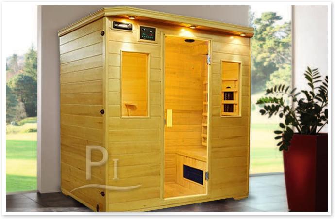 Sauna infrarossi Giada - Foto cabina ambientazione in interni