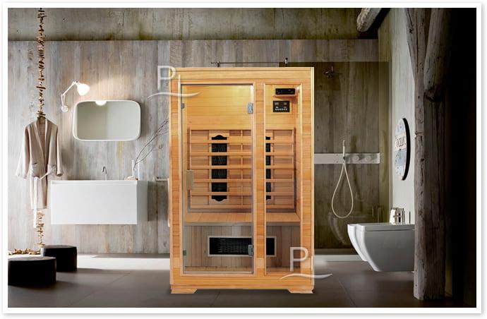 Sauna infrarossi Laila - Foto cabina ambientazione in interni