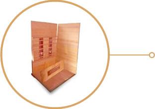 Sauna infrarossi Erika - Assemblaggio
