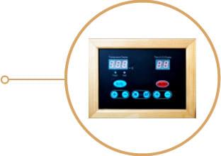 Sauna infrarossi Giada - Pannello di controllo