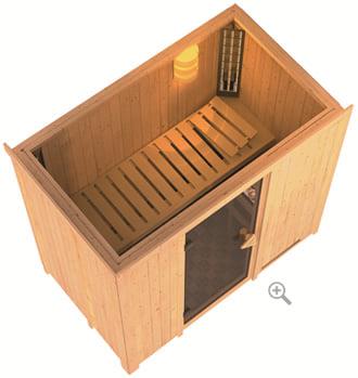 Sauna infrarossi Variado: vista dall'alto 3D