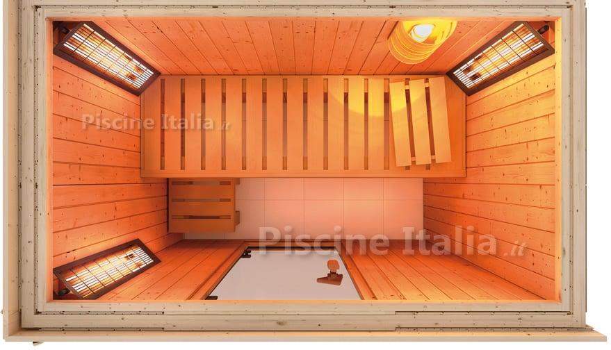 PiscineItalia - Sauna combo finlandese/infrarossi Variado