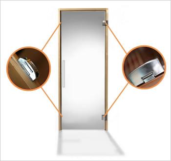 Sauna infrarossi Giorgia - Incluso nel kit sauna - Porta in vetro