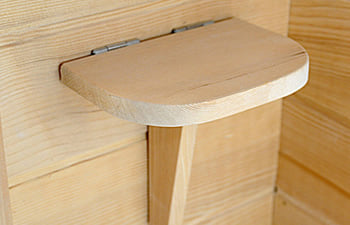 Sauna infrarossi Giada - Incluso nel kit sauna - Portaoggetti