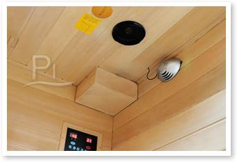 Sauna infrarossi Giada - accessori in dotazione