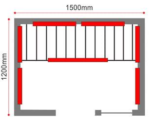 Sauna infrarossi Giorgia - Prospetto tecnico