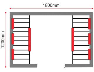Sauna infrarossi Giada - Prospetto tecnico