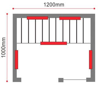 Sauna infrarossi Laila - Prospetto tecnico