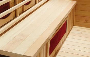 Sauna infrarossi Giada - Incluso nel kit sauna - Panca in legno