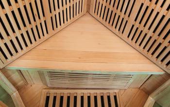 Sauna infrarossi Aurora - Incluso nel kit sauna - Panca in legno