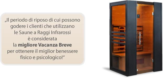Sauna infrarossi Erika per migliorare il benessere mentale e fisico