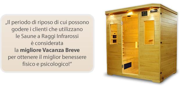 Sauna infrarossi Giada per migliorare il benessere mentale e fisico