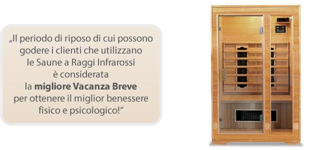 Sauna infrarossi Laila per migliorare il benessere mentale e fisico
