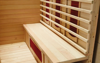 Sauna infrarossi Erika - Incluso nel kit sauna - Schienale in legno