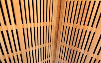 Sauna infrarossi Aurora - Incluso nel kit sauna - Schienale in legno
