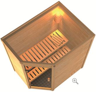 Sauna infrarossi Camelia: vista in 3D dall'alto