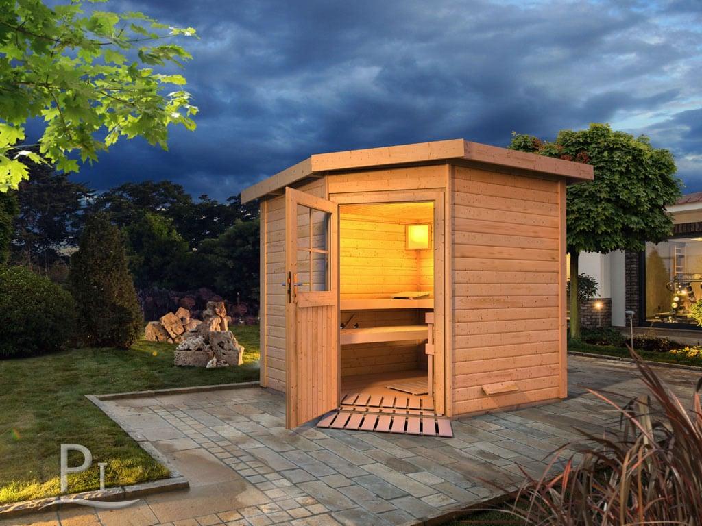 Sauna da giardino palmira 2 - Sauna da esterno ...