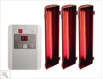 Sauna infrarossi Alicia: Kit sauna: set lampade a infrarossi + controller digitale