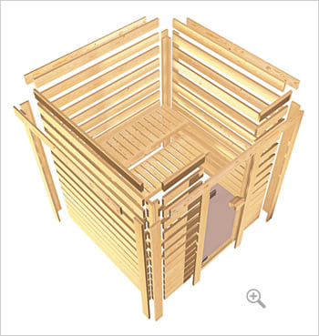 Kit sauna finlandese: struttura in legno
