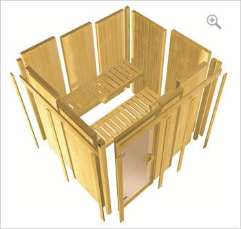 Sauna infrarossi Rina: Kit sauna - struttura in legno