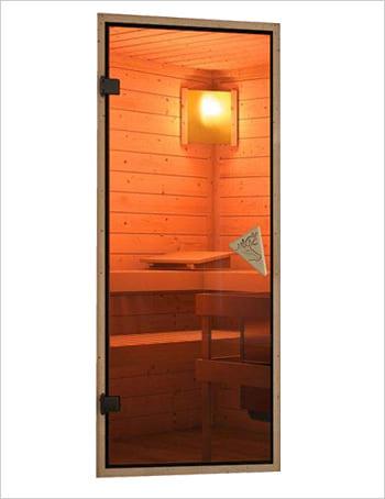 Sauna infrarossi Alicia: Kit sauna: porta in vetro
