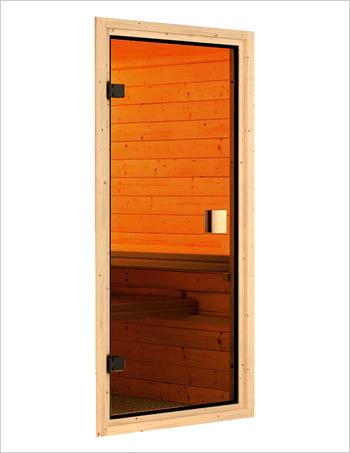 Sauna infrarossi: Kit sauna - porta in vetro bronzato