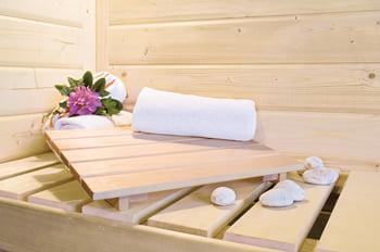 Sauna infrarossi: Kit sauna - Poggiatesta in legno