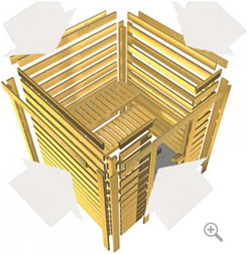 Sauna finlandese fai da te: assemblaggio facilitato
