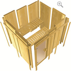 Sauna infrarossi Rina: assemblaggio veloce con pareti preassemblate