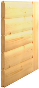 Sauna finlandese con struttura in legno massello di abete