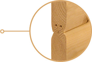 Sauna finlandese fai-da-te: sistema a incastro facilitato