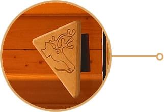 Sauna finlandese con porta in vetro temprato