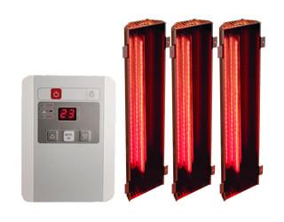 Saune infrarossi: set di lampade a infrarossi con controller esterno