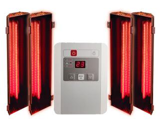Sauna infrarossi Variado: set di 4 lampade a infrarossi con pannello di controllo esterno