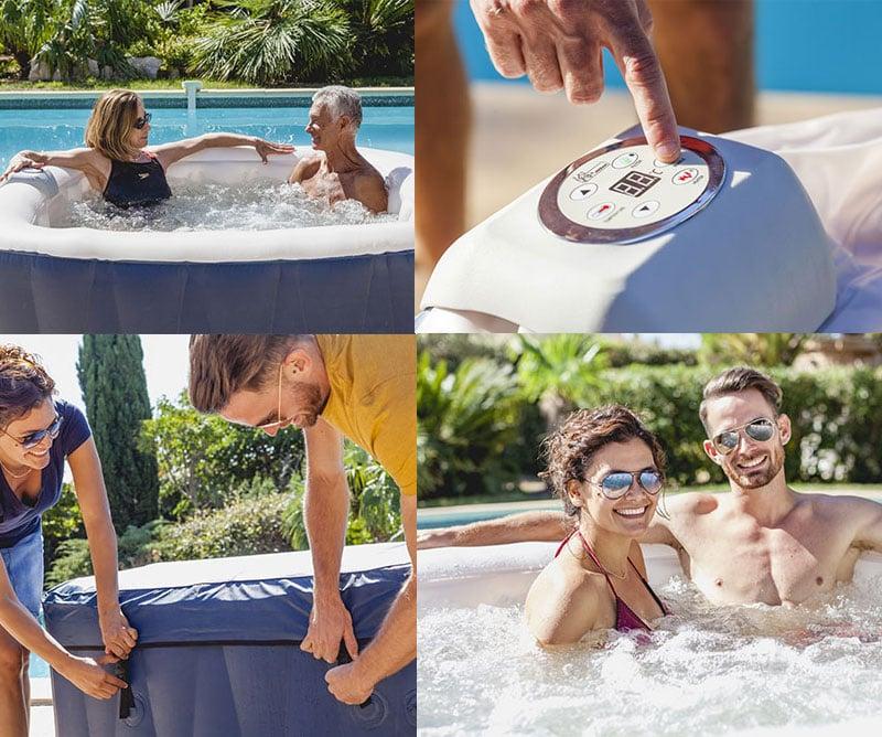 Vasca idromassaggio spa gonfiabile XTRA 1000 tonda 6 persone relax benessere