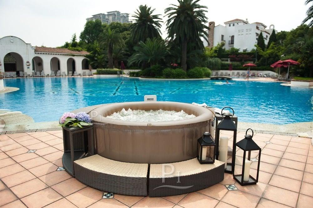 Vasca idromassaggio spa gonfiabile elite reve jet for Filtro piscina carrefour
