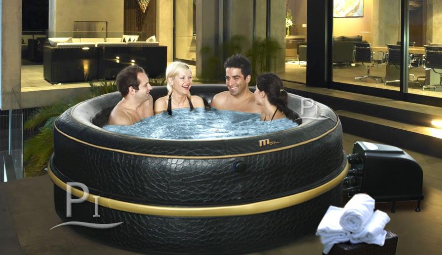 vasca idromassaggio spa gonfiabile luxury exotic. Black Bedroom Furniture Sets. Home Design Ideas
