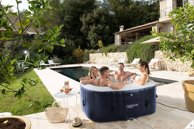 Vasca idromassaggio gonfiabile infinite spa quadrata Champion 4 posti - Cover