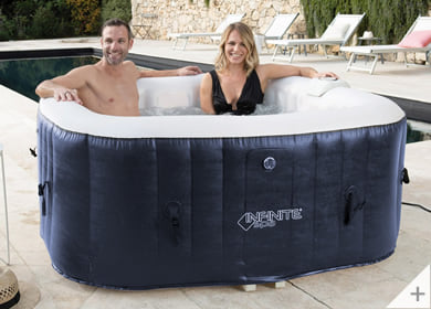 Vasca idromassaggio gonfiabile infinite spa quadrata Champion 4 posti - Divertimento in compagnia