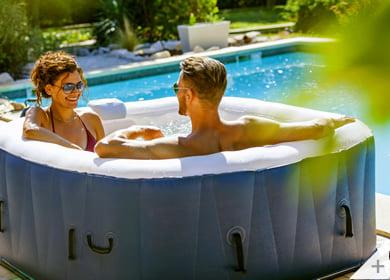 Vasca idromassaggio gonfiabile infinite spa quadrata Champion 4 posti - Perfetta per l'esterno