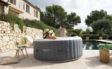 Vasca idromassaggio gonfiabile infinite spa quadrata Champion 4 posti - SPA in casa propria