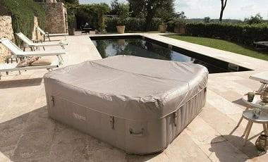 Vasca idromassaggio gonfiabile infinite spa quadrata Champion 4 posti - Comfort e sicurezza