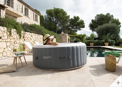 Vasca idromassaggio gonfiabile infinite spa rotonda XTRA 4 posti - Divertimento in compagnia